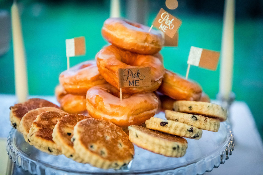 donuts and welshcakes at weddings