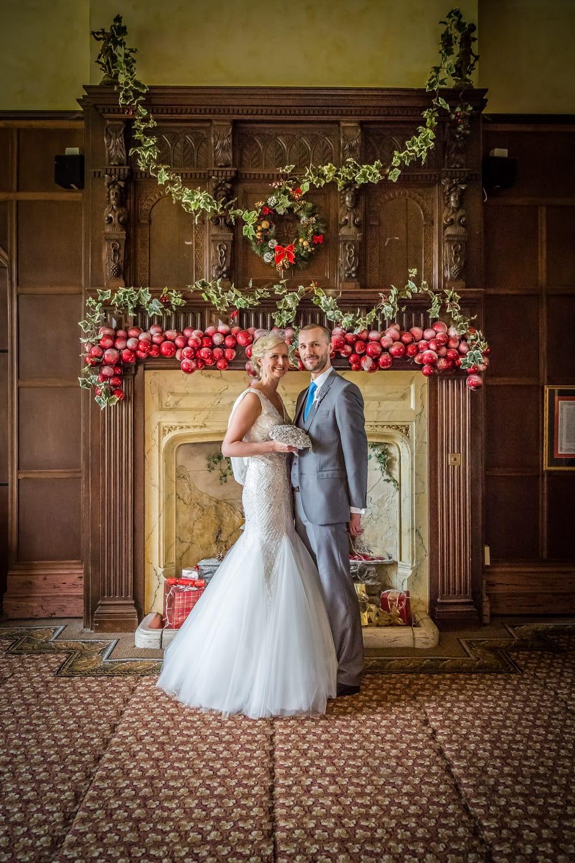 christmas wedding photos at miskin manor
