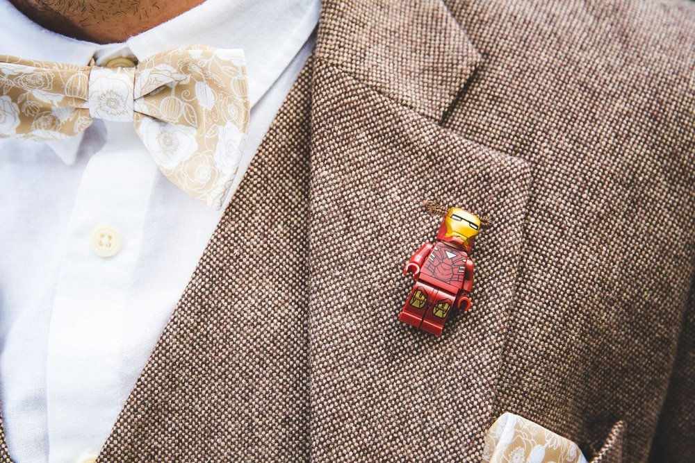 Lego Man Wedding Buttonhole