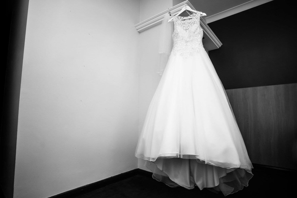 wedding dress in the vale resort