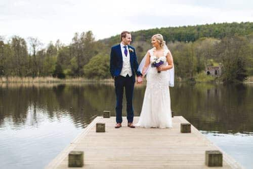 wedding photos on the jetty at hensol castle