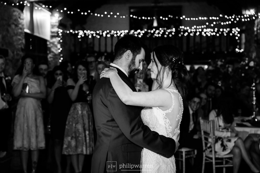 first dance photo at the wedding in pencoed house