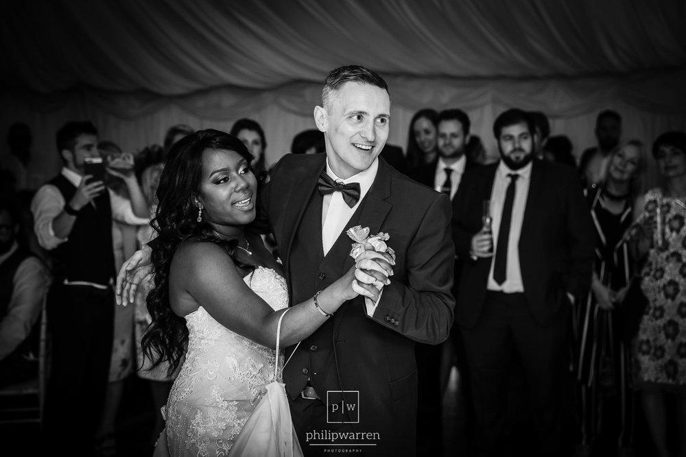first dance at wedding in bryngarw house hotel