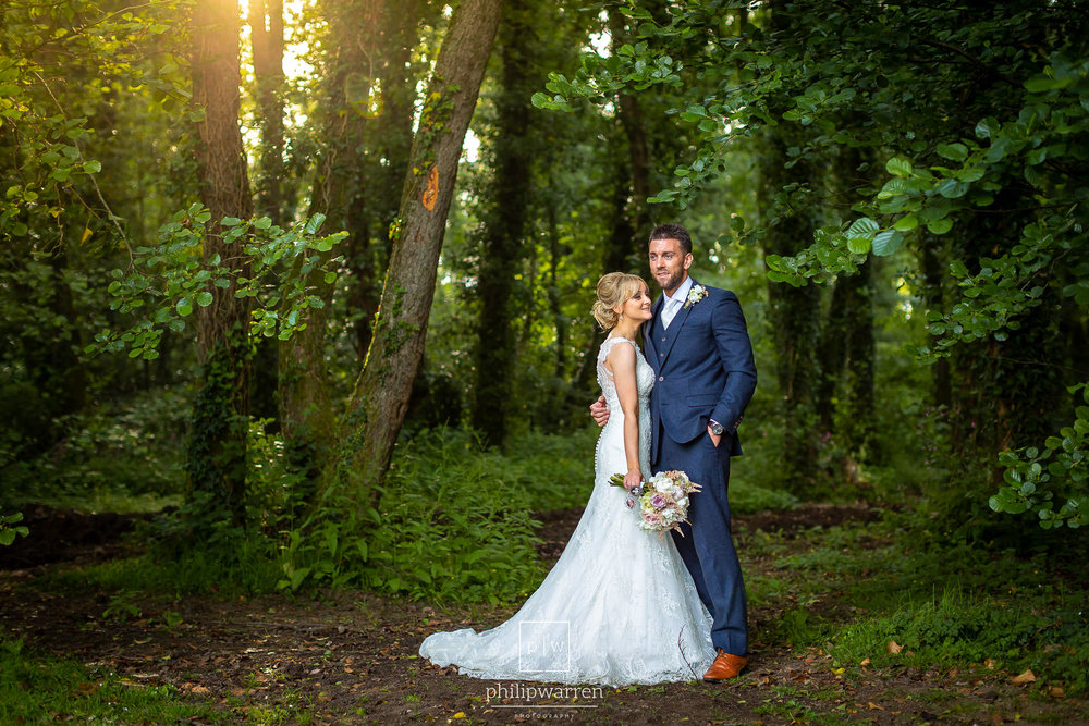 wedding photos in pencoed house estate woods