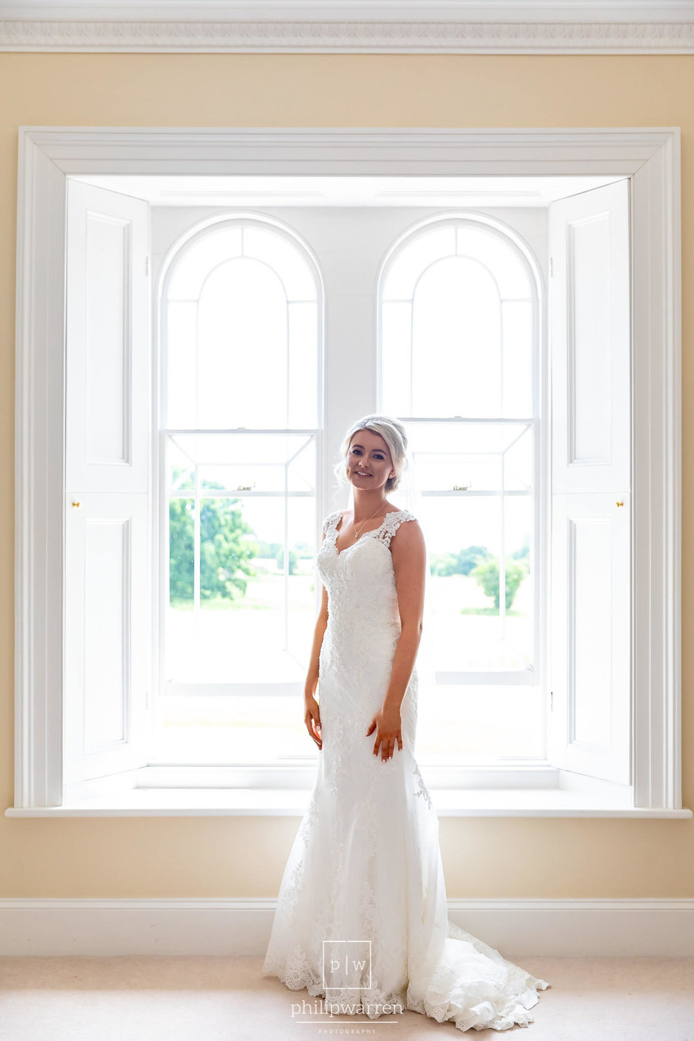 bride in the window in st tewdrics house