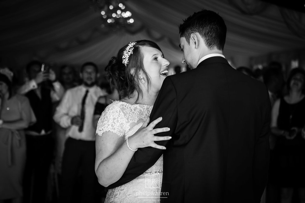 first dance in the marquee of new house hotel cardiff