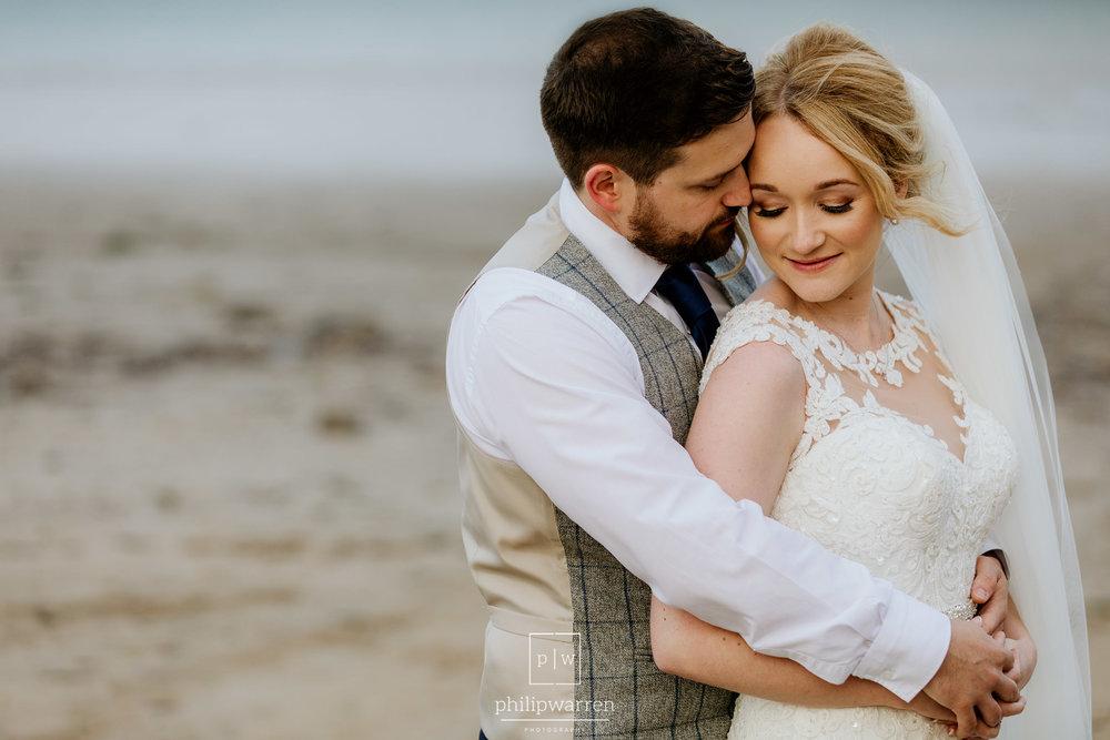 wedding portrait at oxwich bay hotel