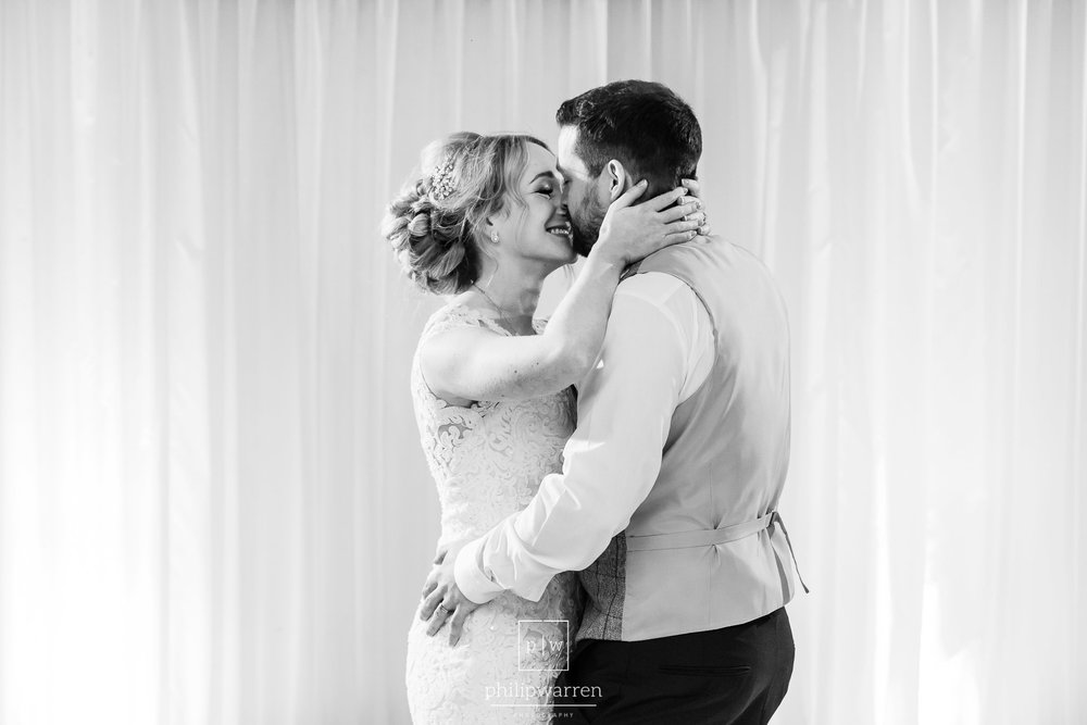 first dance in the marquee at oxwich bay hotel