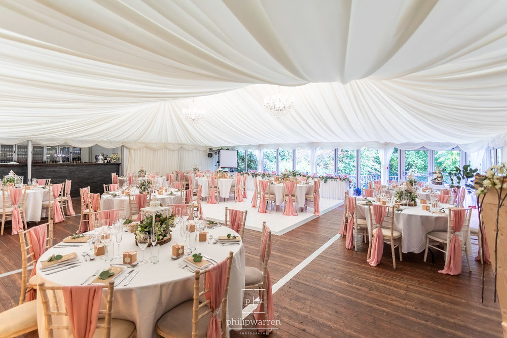 marquee setup at bryngarw house wedding