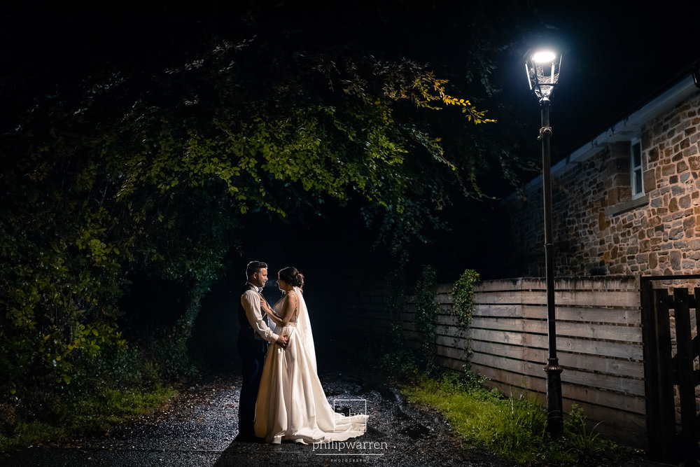 night wedding photos at bryngarw house