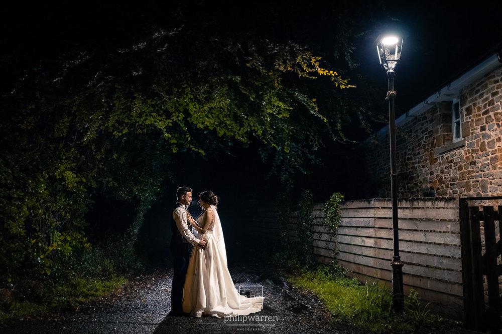 night wedding photos at bryngarw house