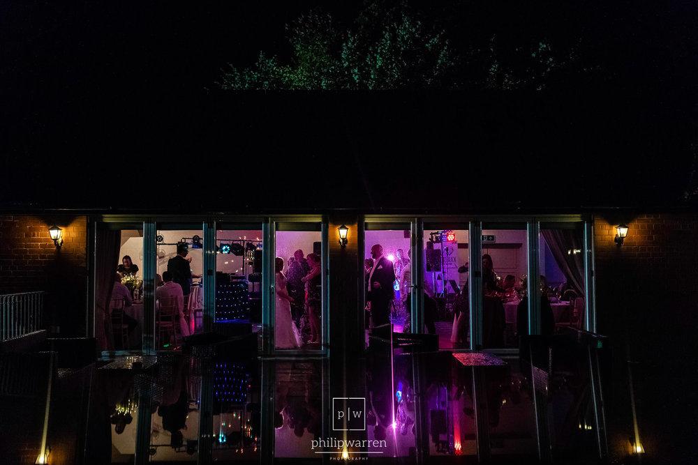 night photo of the dancefloor at court colman