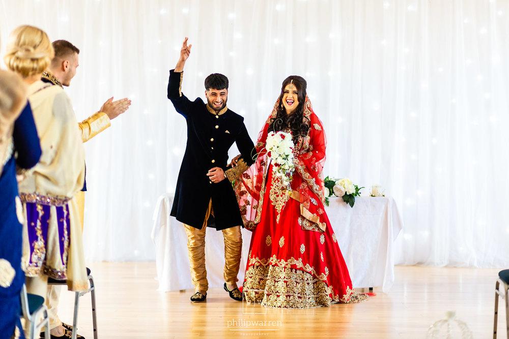 groom celebrating just getting married