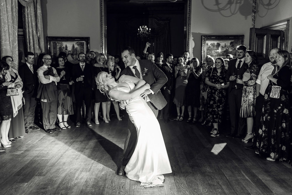 first dance at wedding in orchardleigh estate