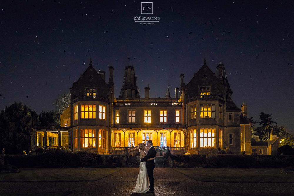 wedding night photo at orchardleigh estate