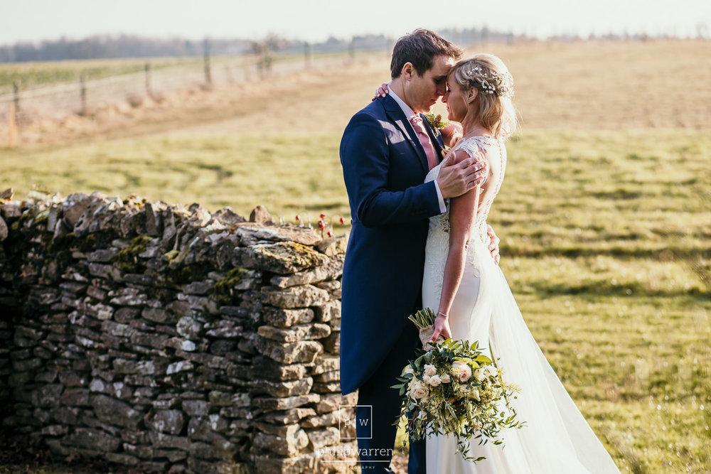 wedding photos outside cripps barn