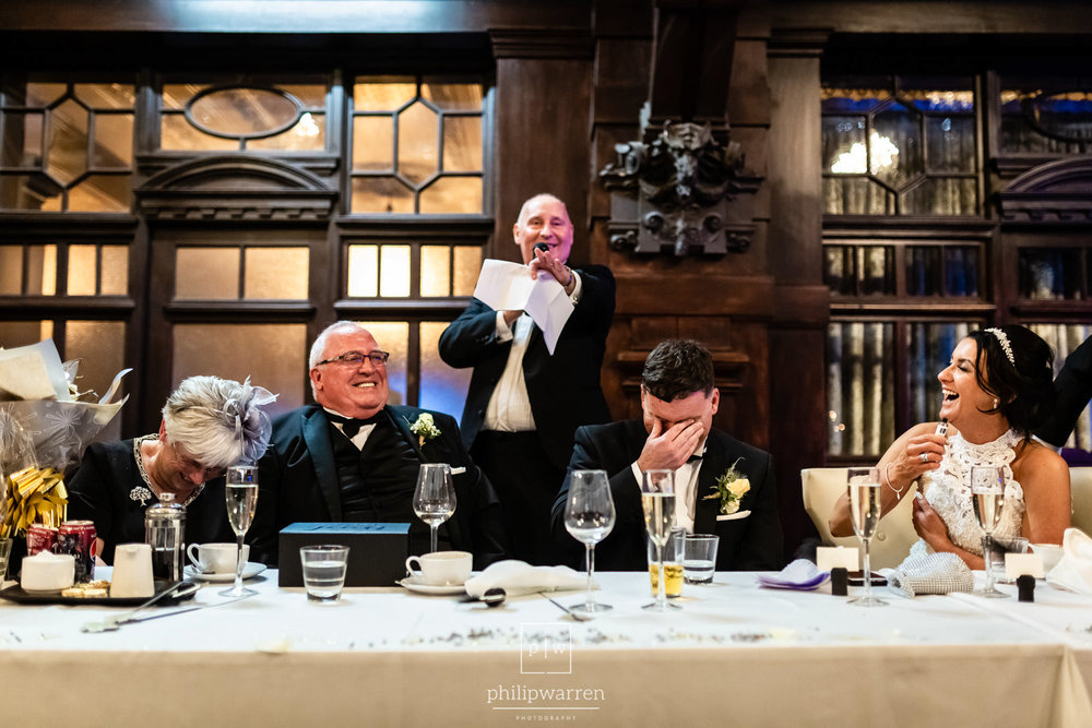 groom embarassed during wedidng ceremony