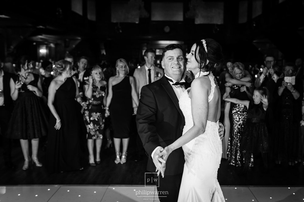 first dance of bride and groom at the exchange