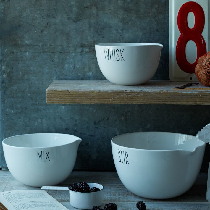 Labeled Kitchen Mixing Bowls