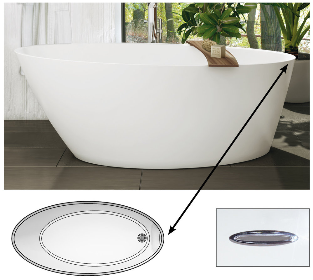 New Tub Overflow Location — Decorative Resource