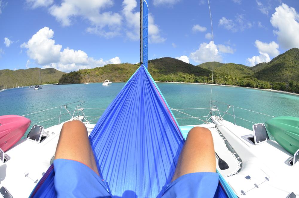 Relax.  Maho Bay, St. John  USVI