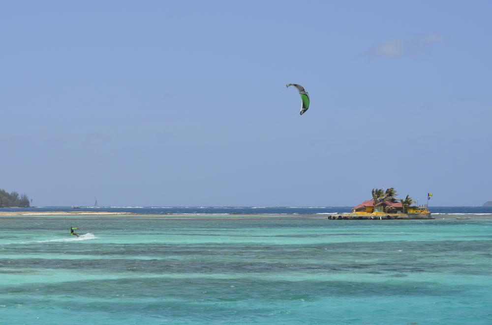 Kitesurfing on Union Island, SVG.