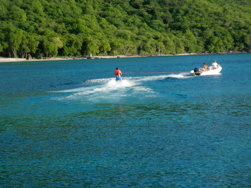 Water Skiing, Chatham Bay, Union Island