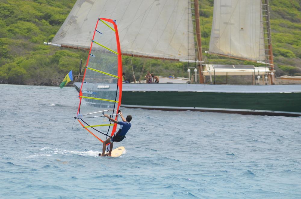 Windsurfing in the Grenadines