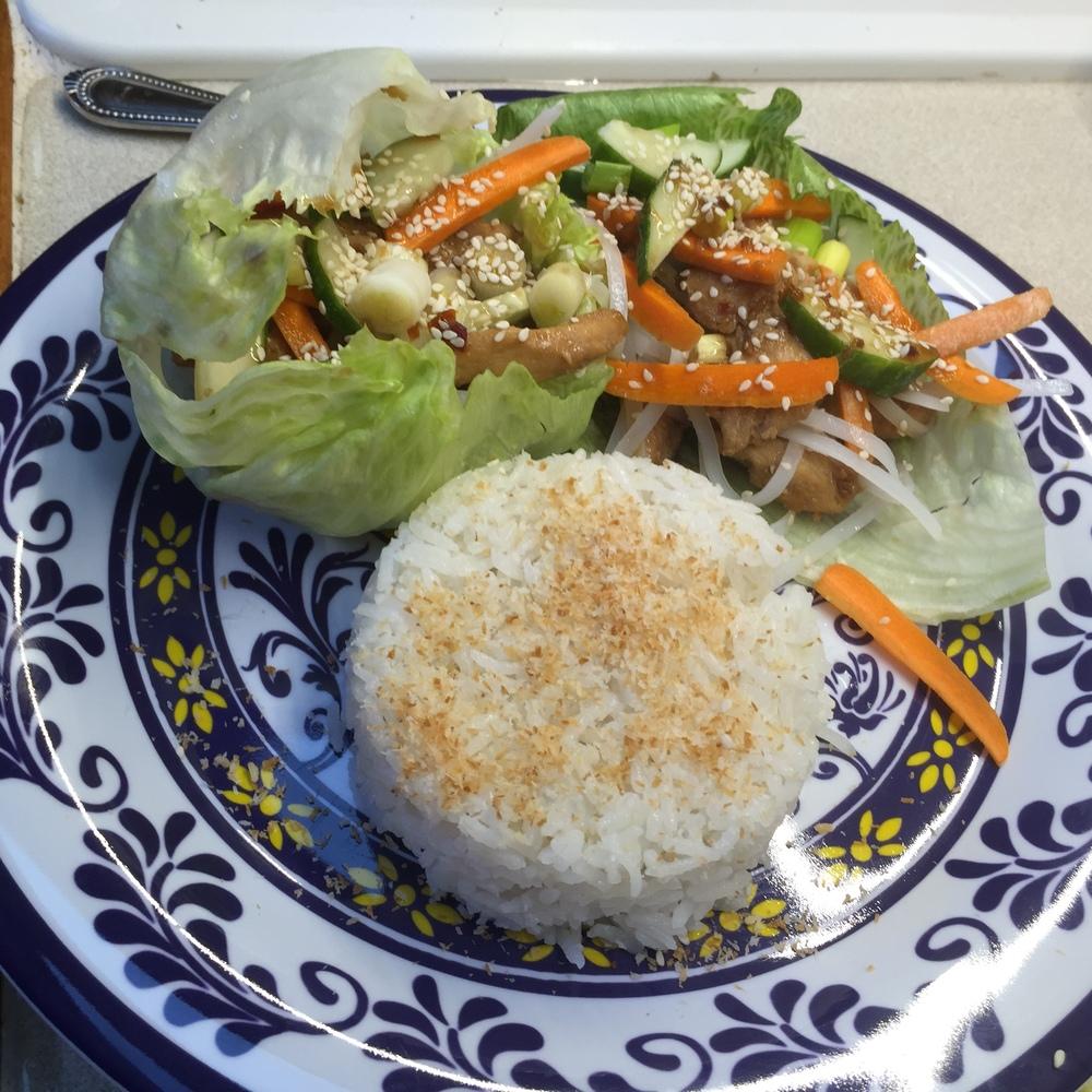 Oriental Chicken Lettuce Wraps