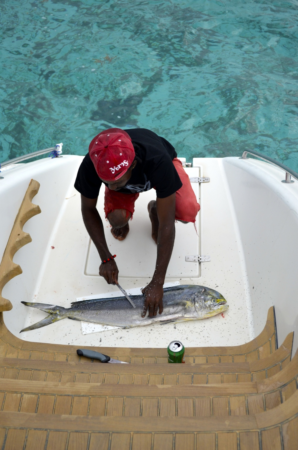 Fish delivered right to the boat!  Tobago Cays