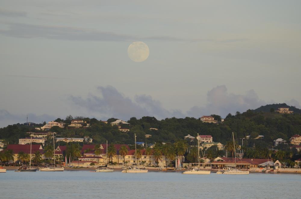 Full Moon Rising, St. Lucia