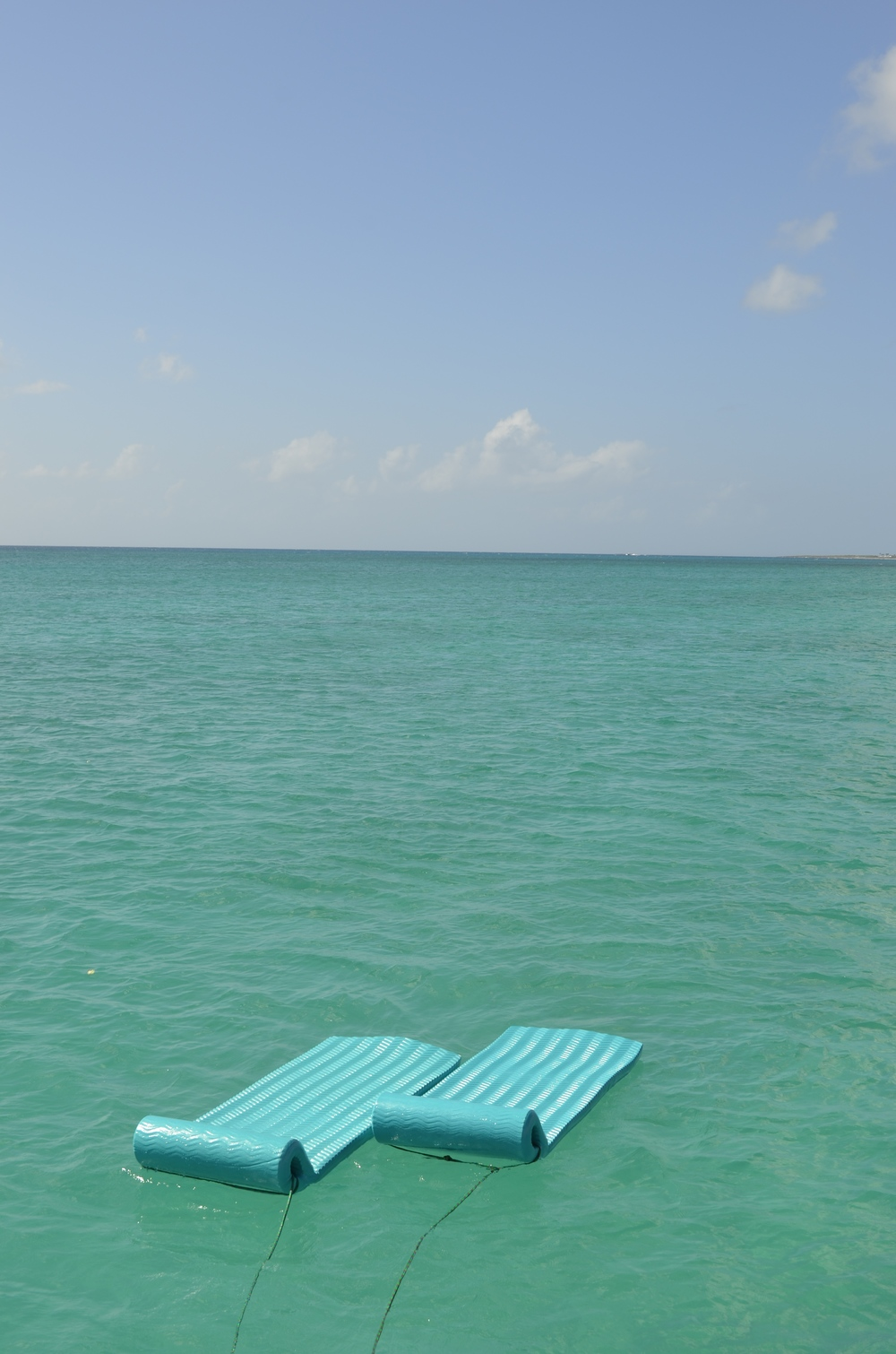 Floating.  Rendezvous Bay, Anguilla.