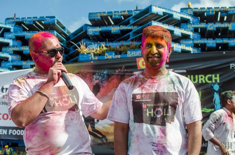 Event organisers Hitesh Sharma (Revel Events) and Sandeep Khanna.