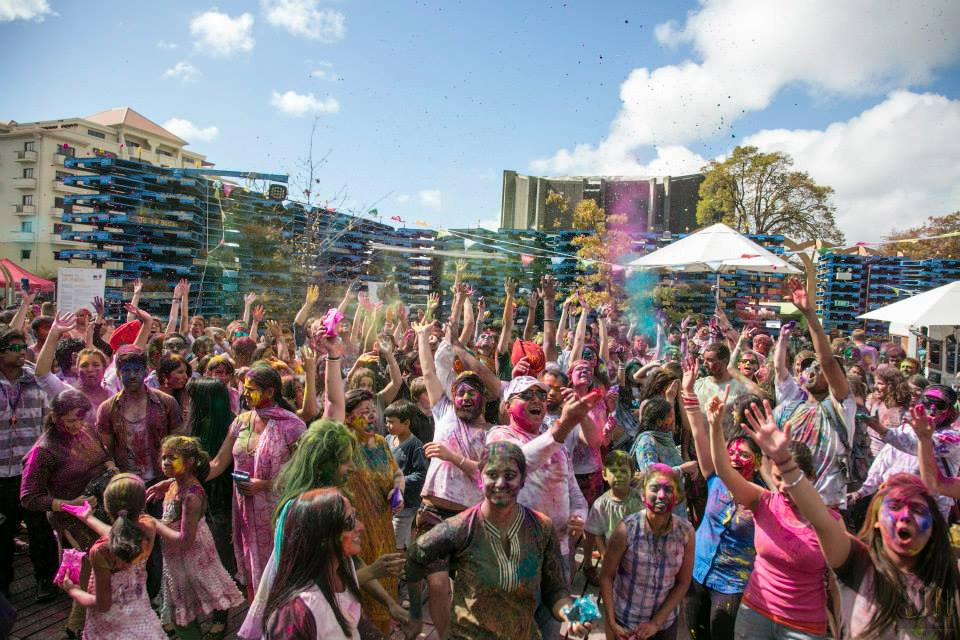 Over 1500 people attended the first Christchurch Holi.