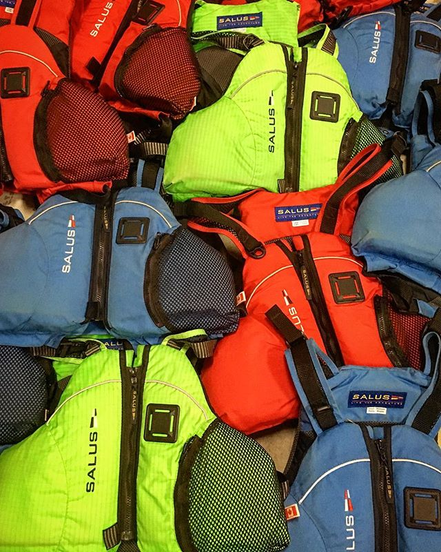 Save big $$ on a nice PFD for the season! We have a bunch of used Salus Eddy Flex paddling PFDs. All in great condition. All sizes and an assortment of colours. $60+gst (these retail for $130). #shopyk