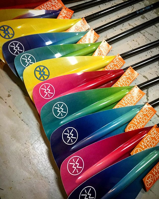 Hey guys! We're fully stocked with these beautiful 2018 @wernerpaddles SUP paddles! Shapes and sizes for big, small, guys, ladies and kids! And our handful of remaining 2017 Werners are 30% off! #shopyk