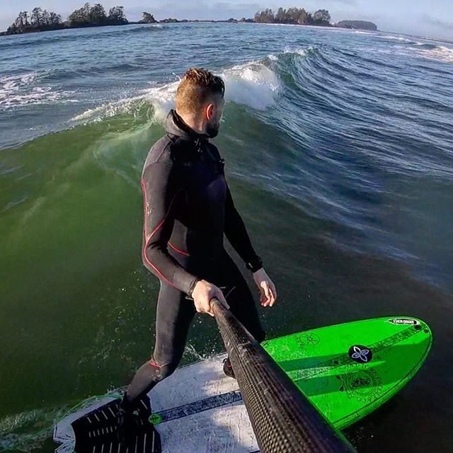 We got loads of barrels at Long Beach today but unfortunately the GoPro took a tumble off the truck on the drive home. So you'll have to take our word for it and enjoy this photo of small surf from yesterday. Cheers to another epic time in Tofino.