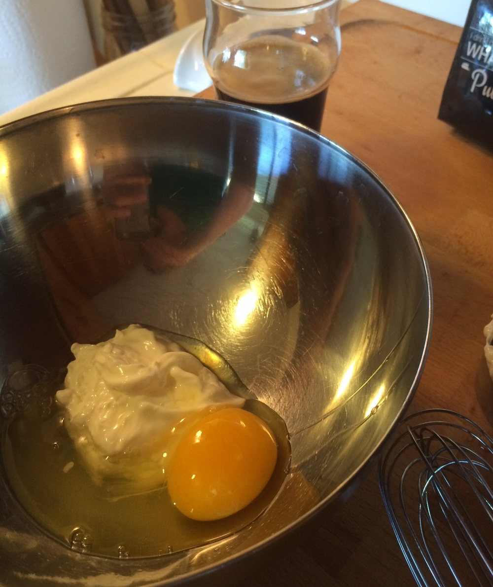 Combine Egg & Sour Cream
