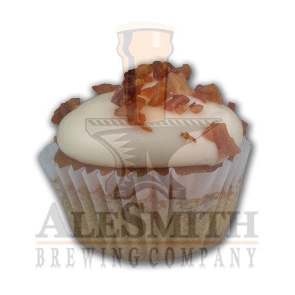 Beer for Breakfast AleSmith® Wee Heavy, bacon, & maple cream cheese frosting