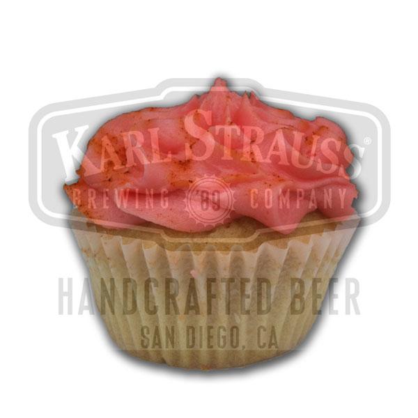 Top Ten Cake Karl Strauss® Tower Ten IPA, cayenne caramel filling, & cherry buttercream