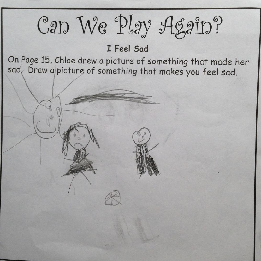 A child's sad drawing