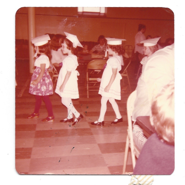 Kindergarten Graduation with my twin sister. #BabyLove #LifeWithoutDigitalPhotography #ItWasThe70's