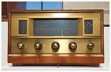 1959 radio with tuning knobs (source: Wikipedia)
