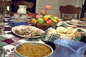 Traditional Thanksgiving dinner (photo: Wikipedia)