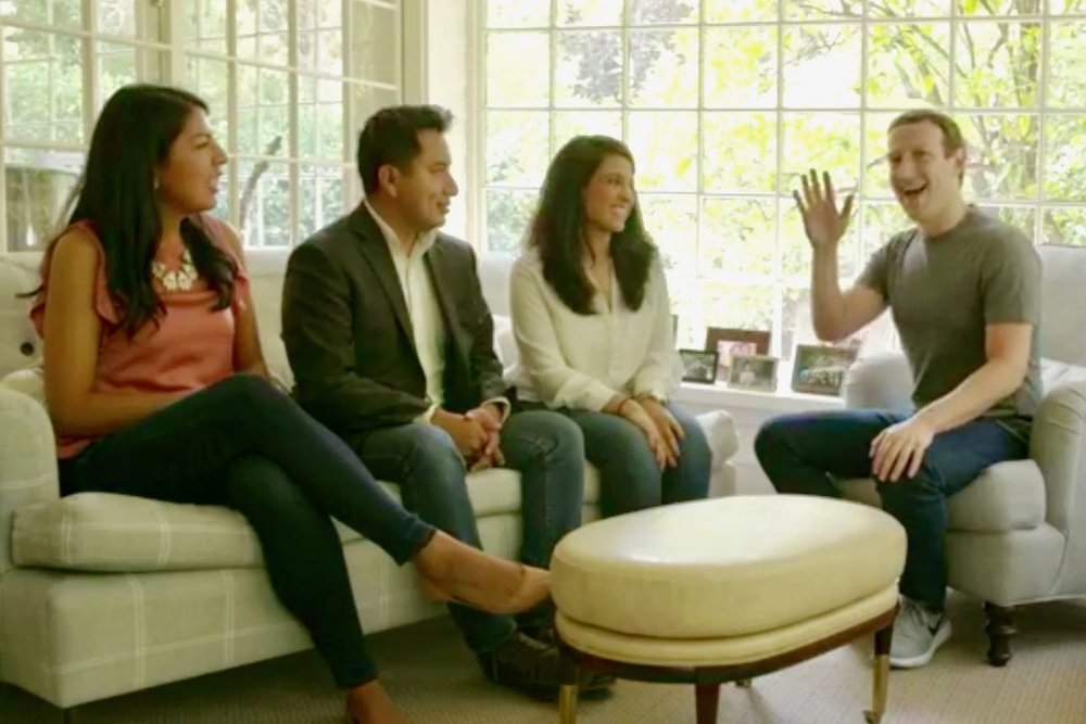 - Facebook CEO Mark Zuckerberg meets with DACA recipients in his home.