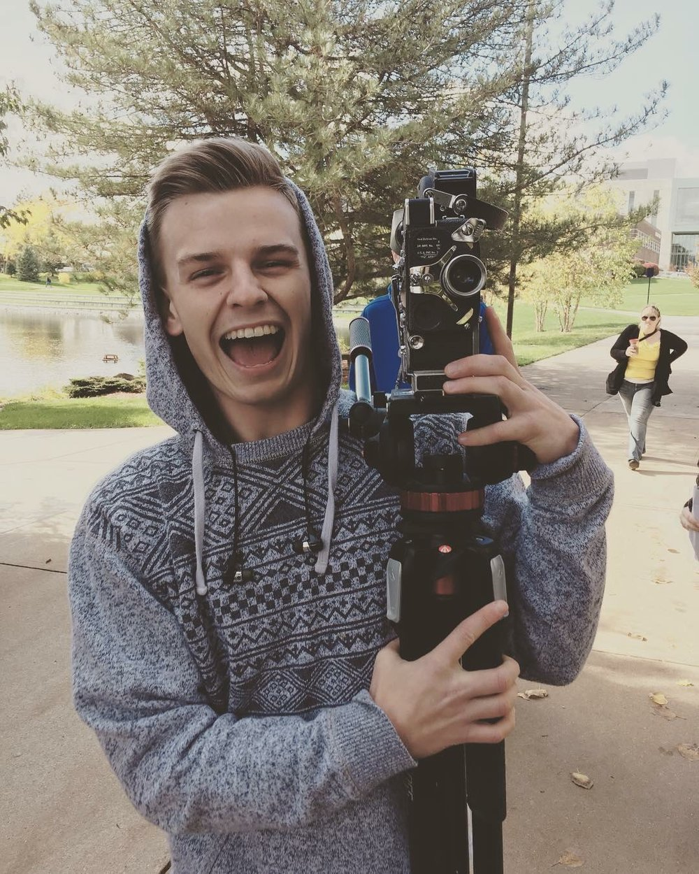 Chad Hilliard is a Grand Valley State University Film & Video student, working as the fall 2018 assistant producer for  Feel Like You Belong . Graduating in December 2018, Chad's focus is in producing, with a goal to bring that skill set to the narrative television industry. Producing is a powerful fit for him since he loves associating with others and making people's stories come to life.