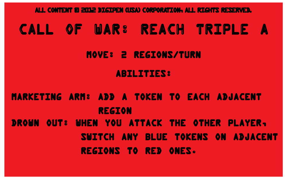 Player Card: Call of War: Reach Triple A