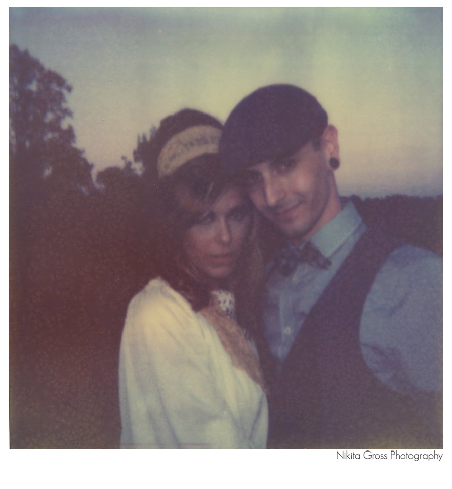 polaroid wedding picture