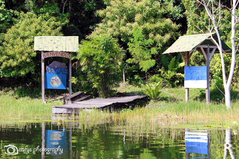 ARCAS entrance -Lake Peten Itza