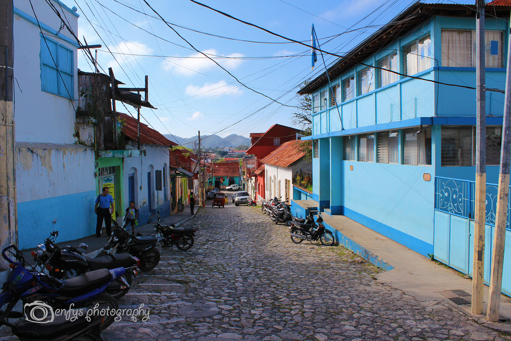 Colourful streets of Flores -Flores, Guatemala